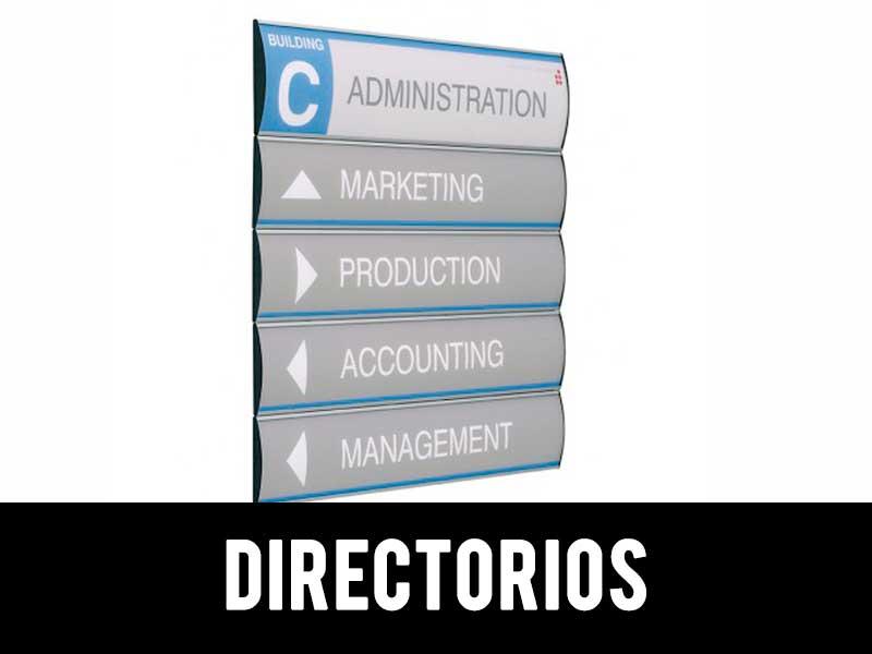 señalética directorios