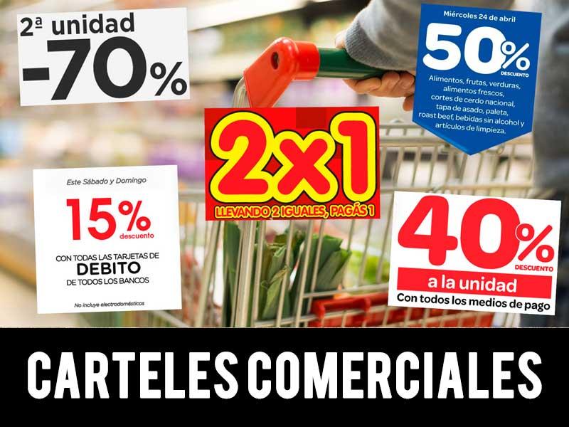 carteles comerciales