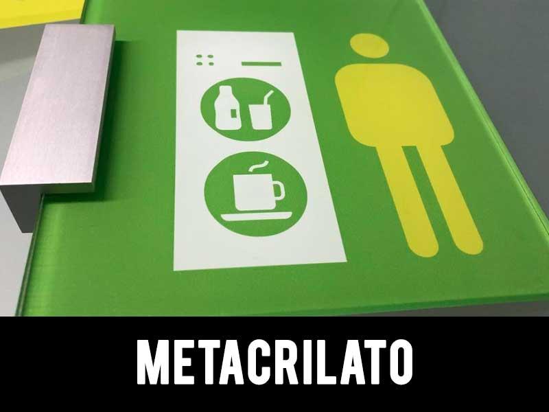 señalética metacrilato