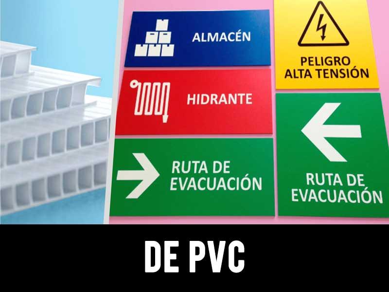 señalética pvc
