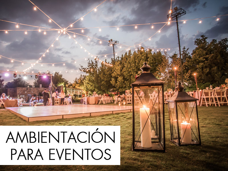 Ambientación y decoración para eventos