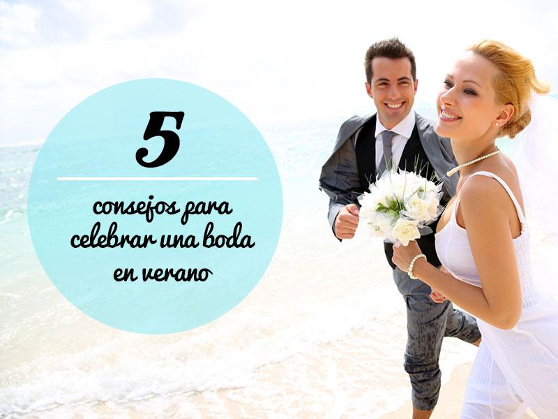 consejos para celebrar una boda en verano